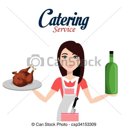 Vector Clipart of catering service design.