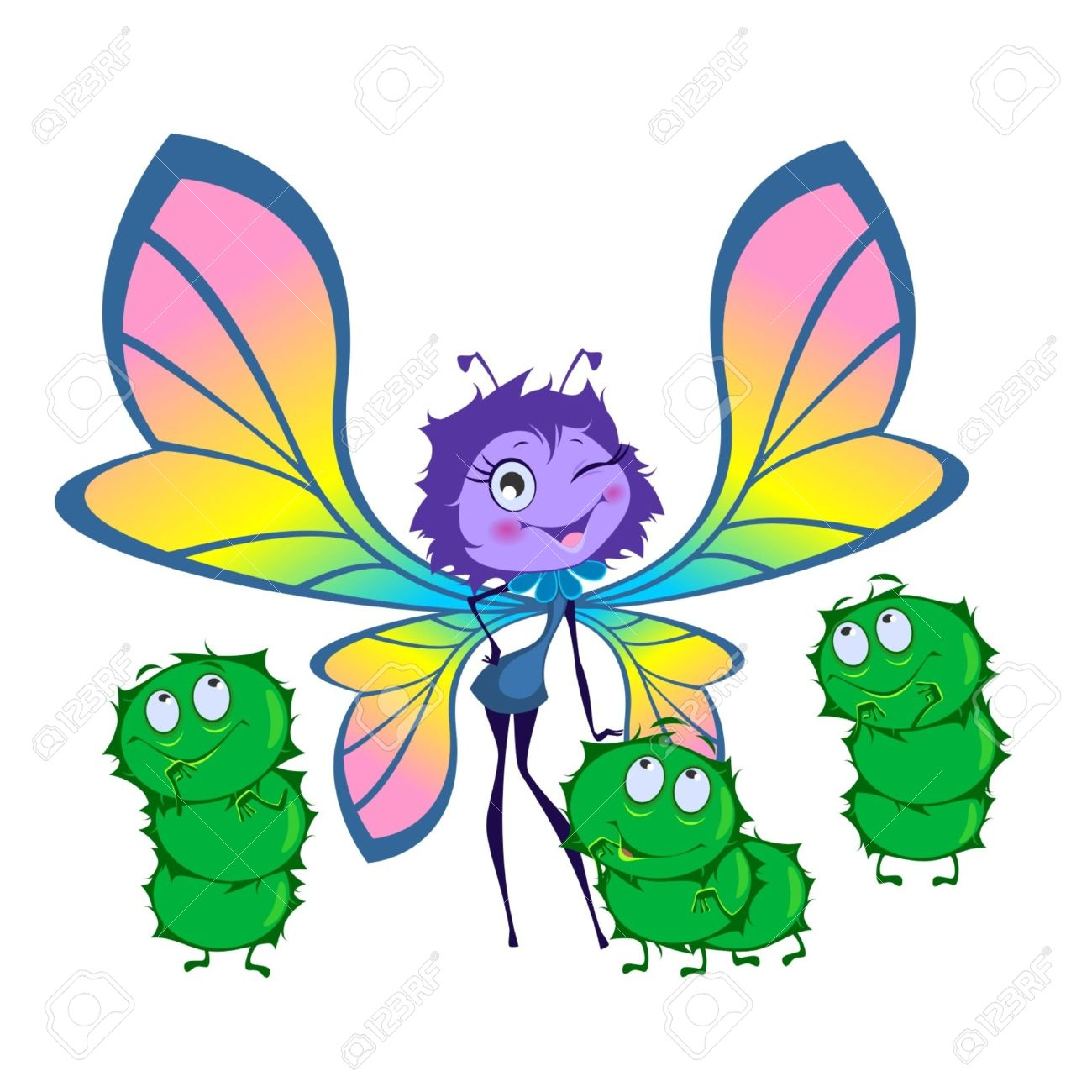 1,694 Caterpillar To Butterfly Stock Vector Illustration And.