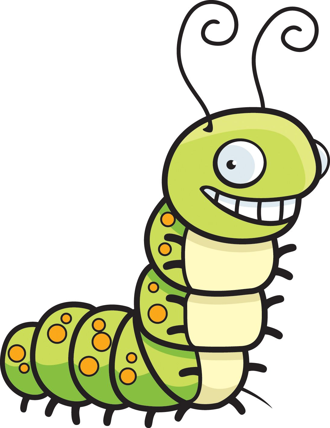 caterpillar butterfly clipart.