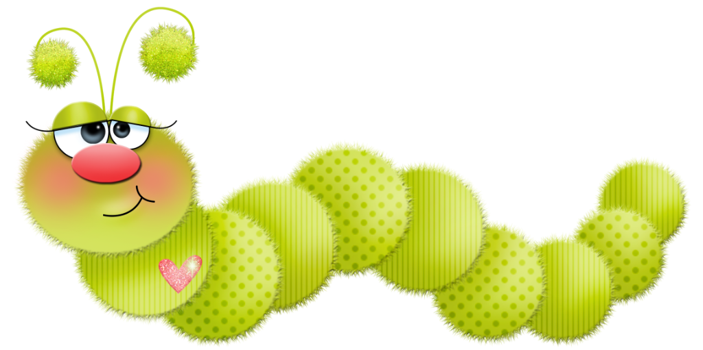 Cute Caterpillar Clip Art.