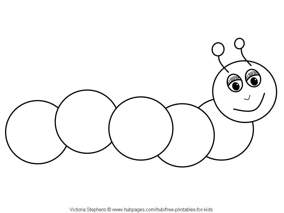 Caterpillar Outline.