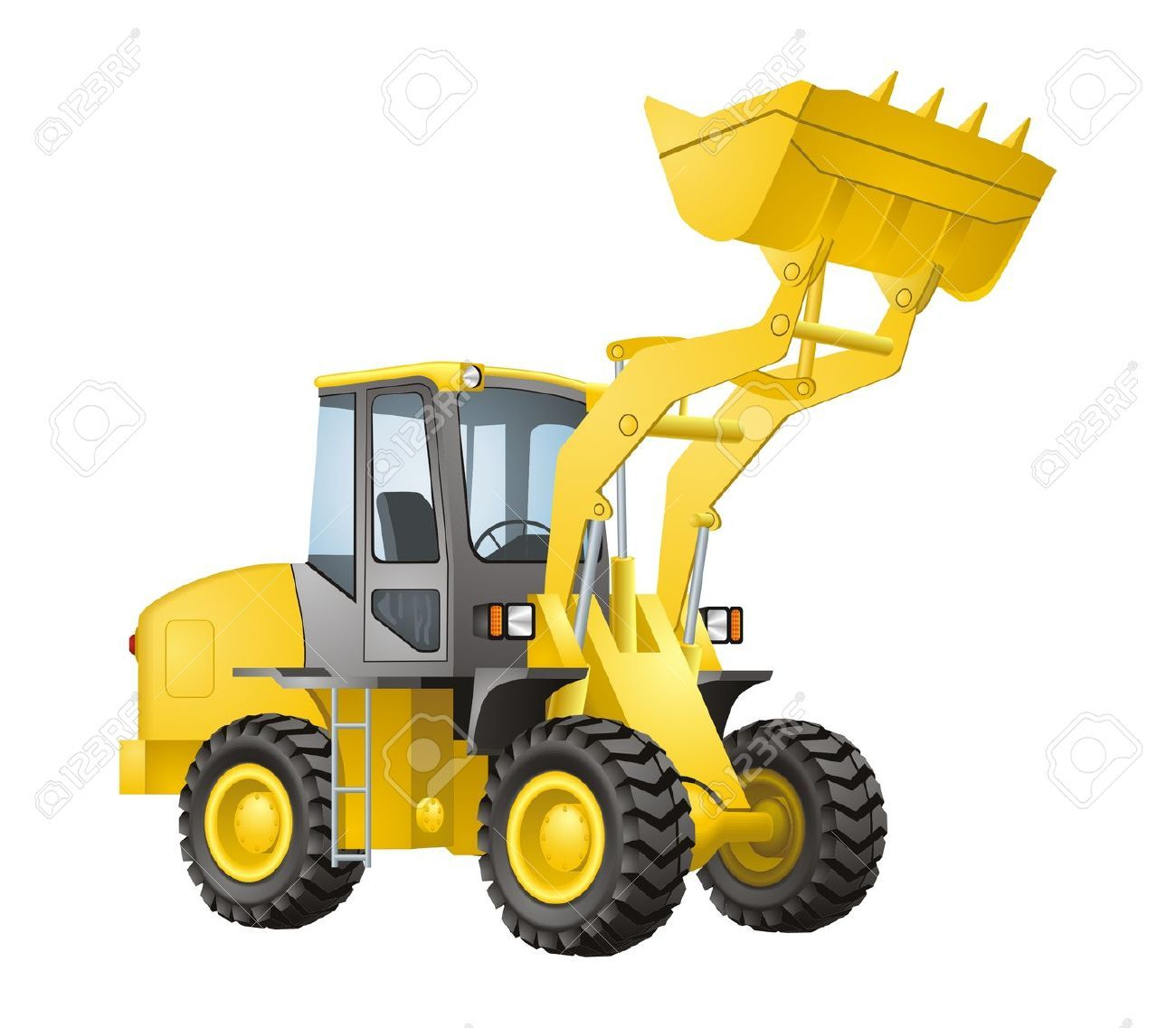 Excavator vector Stock Vector.