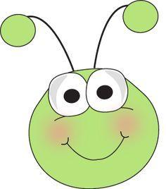 green caterpillar head clip art.