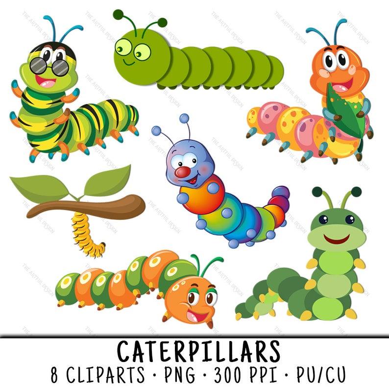 Caterpillar Clipart, Cute Bug Clipart, Caterpillar Clip Art, Cute Bug Clip  Art, Caterpillar PNG, Cute Bug PNG, Cute Caterpillars.