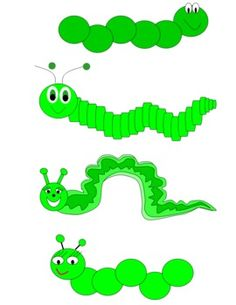 Caterpillars Clip Art.