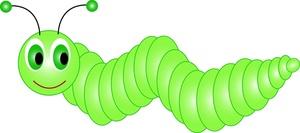 Animated caterpillar clipart.
