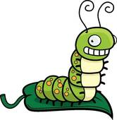 Caterpillar Clipart Black And White.