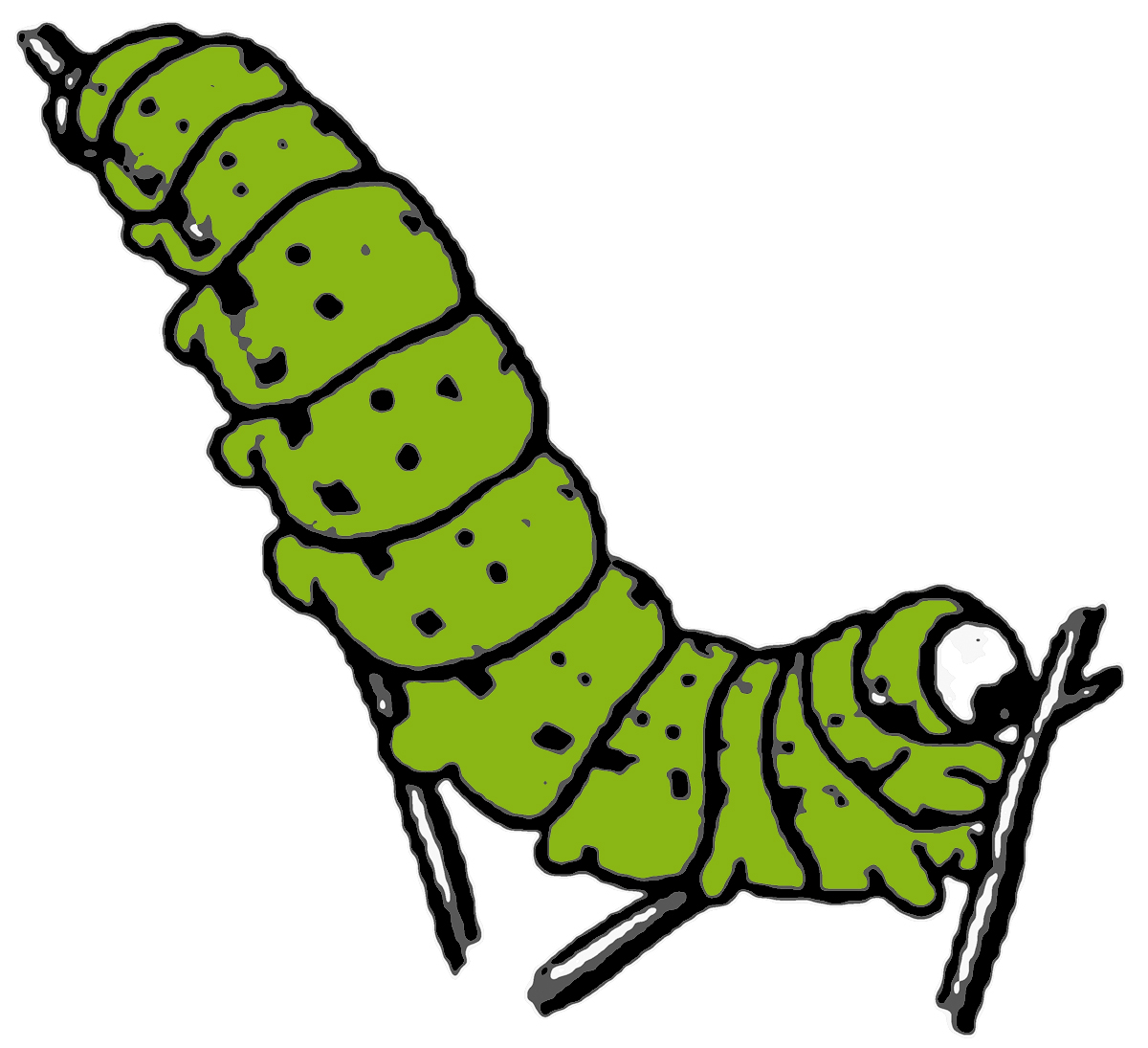 Caterpillars Clipart.