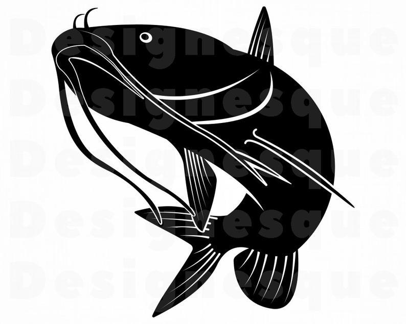 Catfish #2 SVG, Fishing Svg, Fish Svg, Catfish Clipart, Catfish Files for  Cricut, Catfish Cut Files For Silhouette, Fish Dxf, Png Eps Vector.