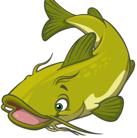 Collection of Catfish clipart.