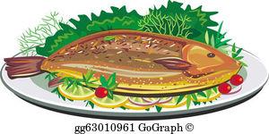 Fried Fish Clip Art.