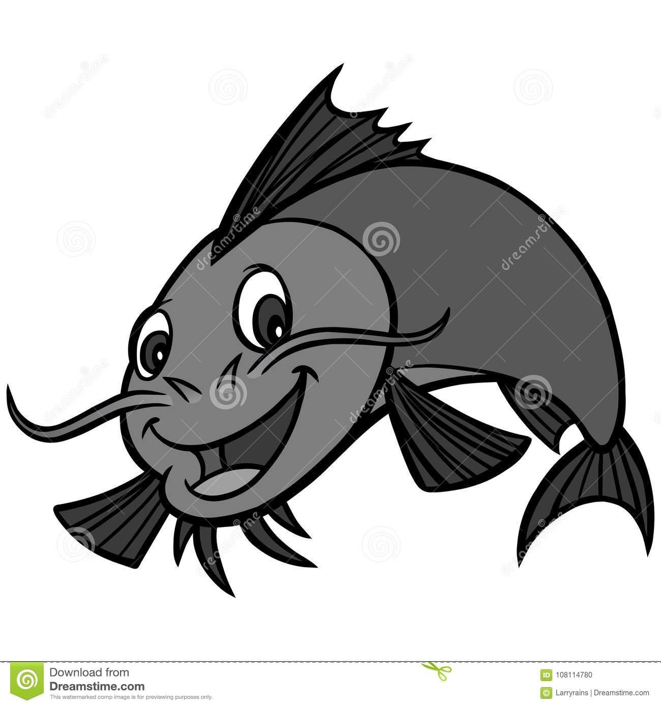 Catfish Dinner Stock Illustrations.
