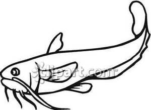 catfish food clipart black white #17