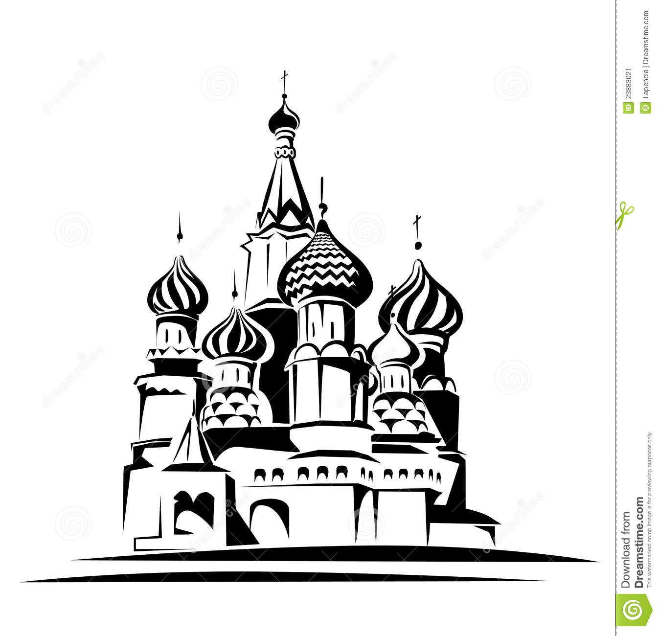 Saint Basil Cathedral Stock Image.