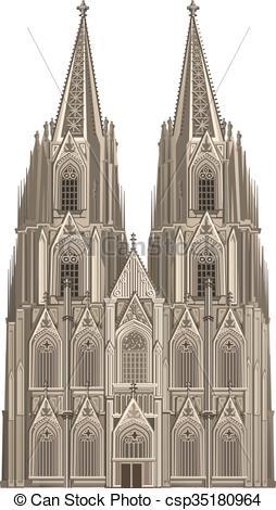 Clip Art Vecteur de Cologne, cathédrale csp35180964.