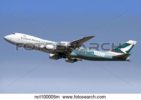 Stock Photo of A Boeing 747.