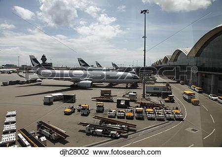 Stock Photo of China, Hong Kong International Airport at Chek Lap.