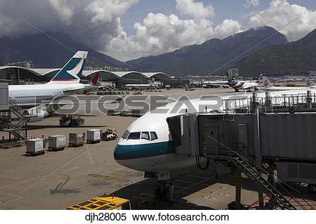 Stock Image of China, Hong Kong International Airport at Chek Lap.
