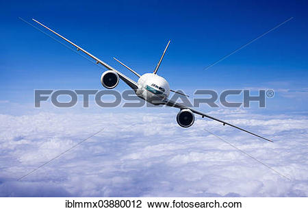 Stock Photo of Cathay Pacific Boeing 777.