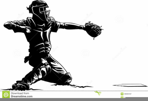 Free Baseball Catcher Clipart.