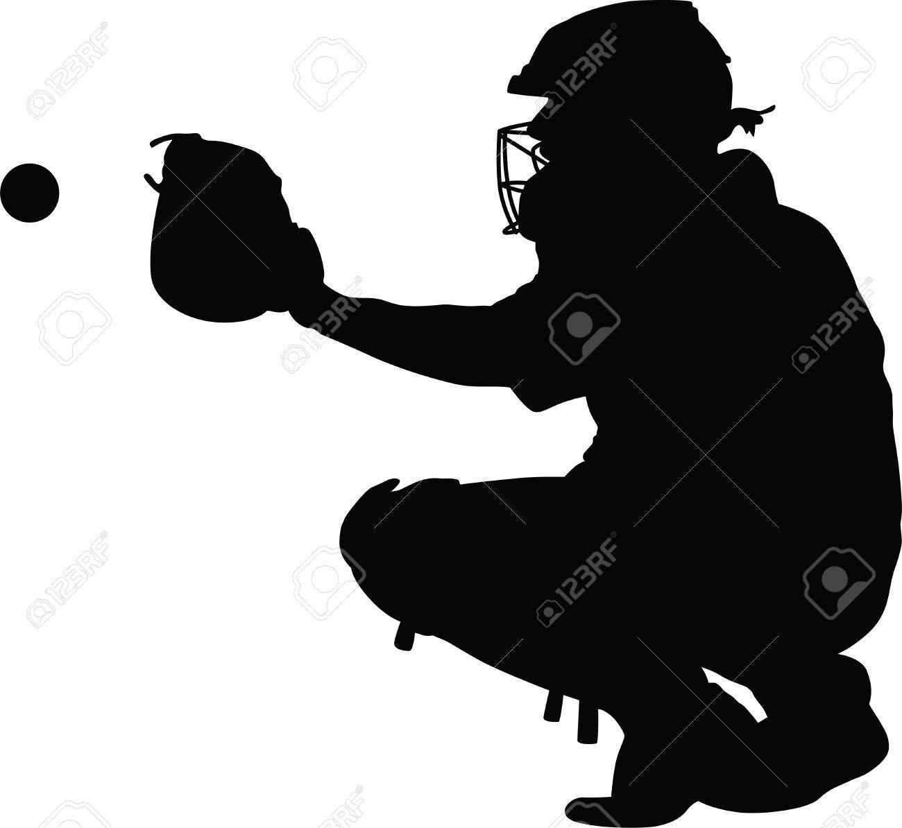 Baseball catcher clipart 4 » Clipart Station.