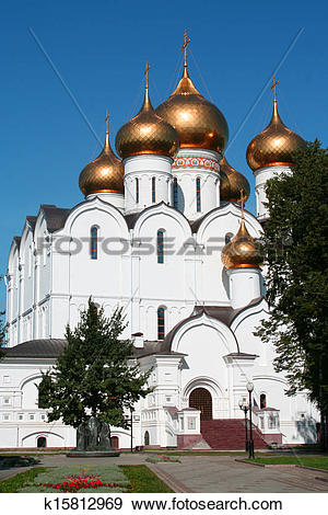 Stock Photograph of Breathtaking Famous The Annunciation Cathedral.