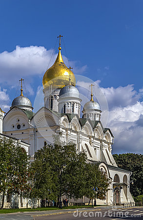 Cathedral Of The Archangel, Moscow Stock Photo.