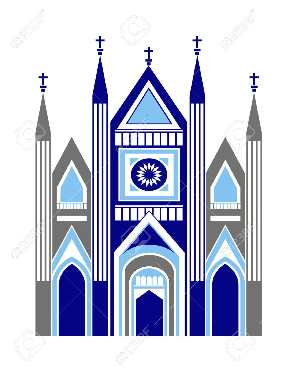 Cathedral Church As Art Graphic Illustration Vector Royalty Free.