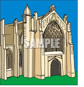 A_Gothic_Cathedral_Royalty_Free_Clipart_Picture_091022.
