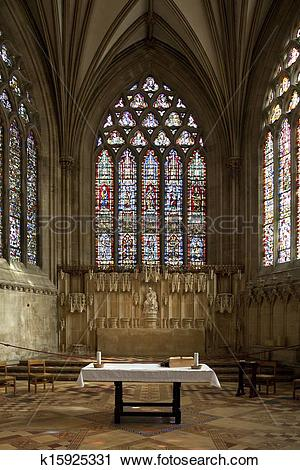 Stock Photography of Well Cathedral.