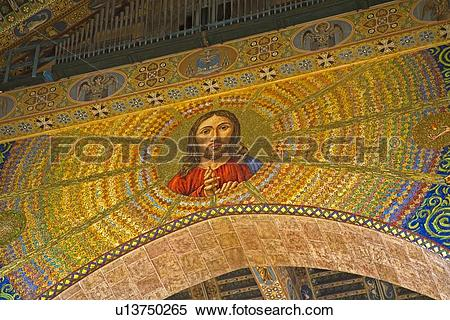 Stock Image of Painted ceilings of a cathedral, City of Messina.