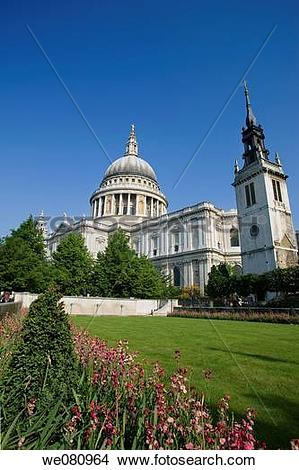 Stock Photo of Festival Gardens, St Paul's Cathedral, City of.