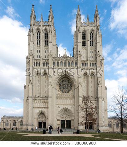 Washington Cathedral Stock Photos, Royalty.