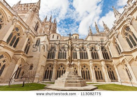 Burgos Cathedral Stock Photos, Royalty.