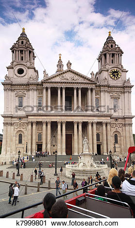 Stock Photography of St. Paul's Cathedral in London. Cathedral was.