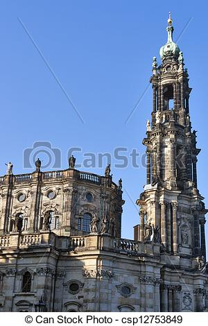 Stock Photo of Catholic Church of the Royal Court of Saxon in.