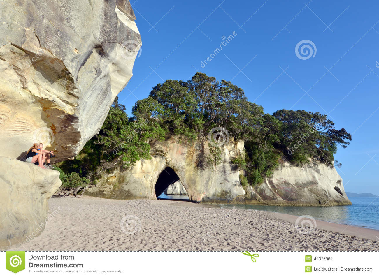 Cathedral Cove, Whitianga Stock Photo.