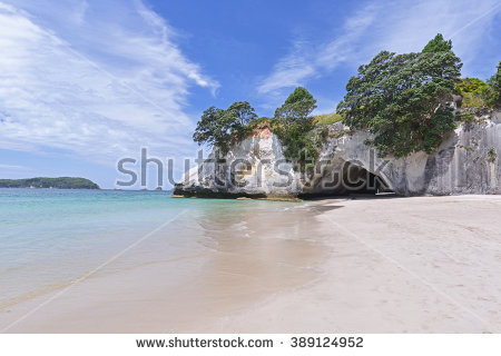 Cathedral Cove Stock Photos, Royalty.
