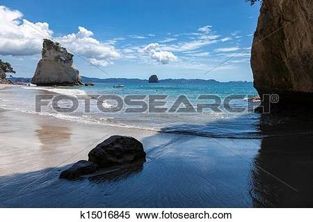 Stock Image of Cathedral Cove Coromandel Peninsula k15016845.