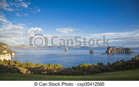 Stock Image of Cathedral Cove Coromandel New Zealand csp35412565.