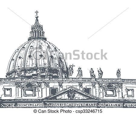 Clipart of St. Peter's Cathedral, illustration.