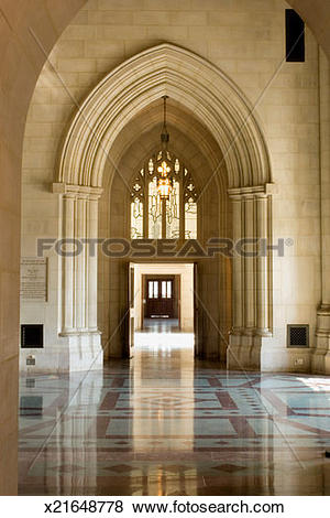 Pictures of Arched hallway of a cathedral, Washington National.
