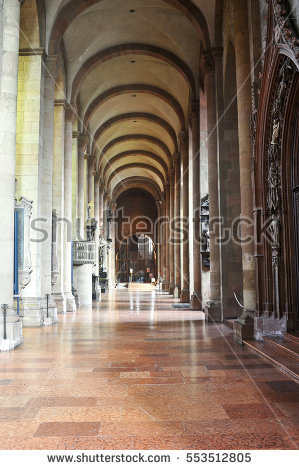 Hallway Cathedral Learning University Pittsburgh Pennsylvania.