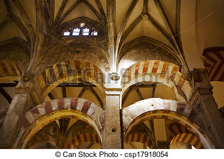 Stock Images of Cordoba mosque vault.