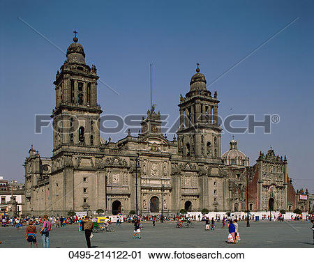 Stock Photography of Mexico, Mexico City, Metropolitan Cathedral.