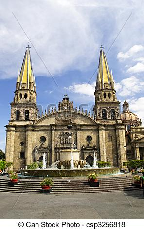 Pictures of Guadalajara Cathedral in Jalisco, Mexico.