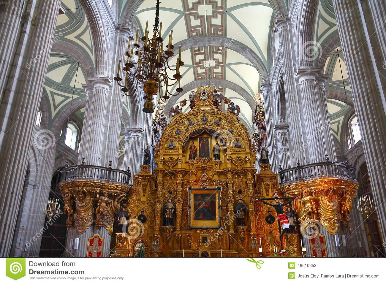 Metropolitan Cathedral Zocalo Mexico City Mexico Christmas Night.