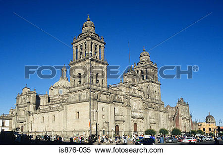 Stock Image of Metropolitan cathedral zocalo mexico is876.