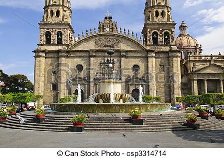 Stock Photo of Guadalajara Cathedral in Jalisco, Mexico.