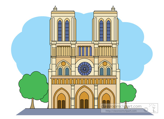 Notre dame cathedral clipart.